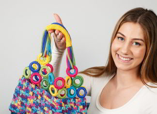 kleurrijke shopper