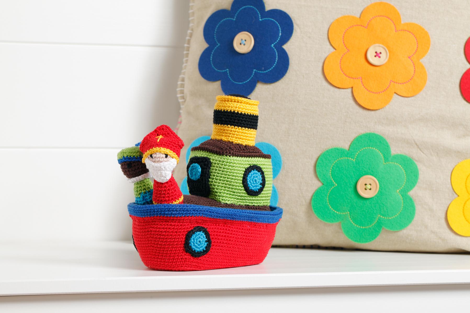 Gehaakte Stoomboot Van Sinterklaas