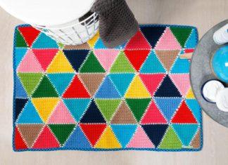 kleurrijke badmat