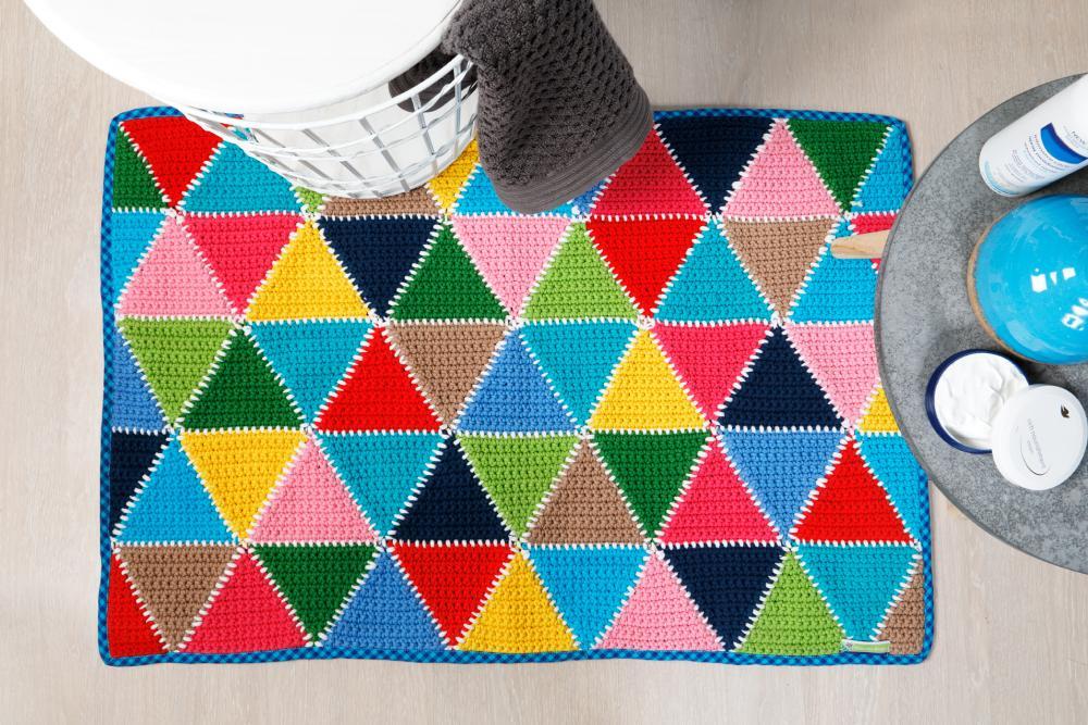 Haakpatroon Kleurrijke Badmat