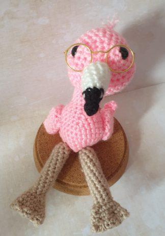 bril amigurumi flamingo