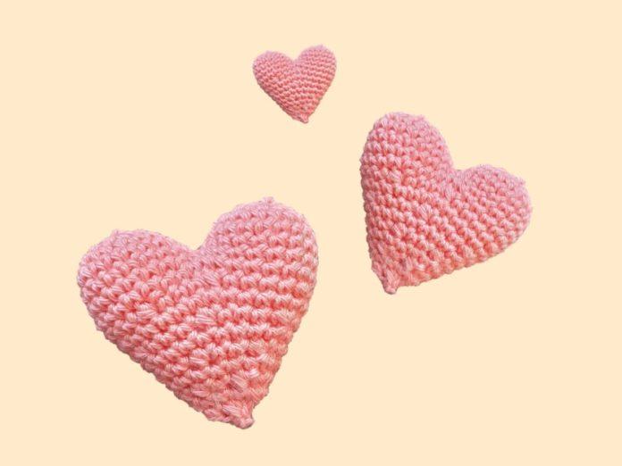Hartjes voor Valentijnsdag haken